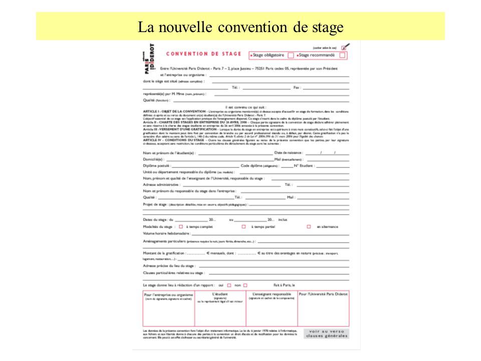 La nouvelle convention de stage