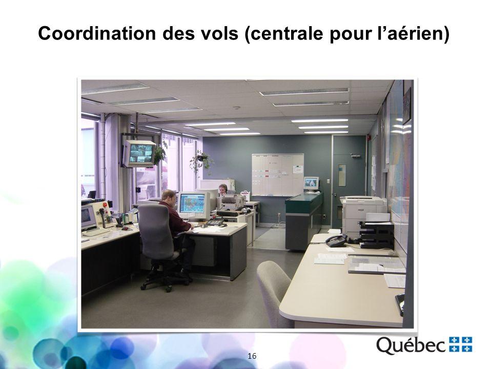 Coordination des vols (centrale pour laérien) 16