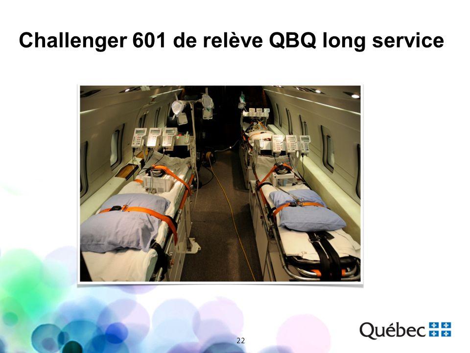22 Challenger 601 de relève QBQ long service