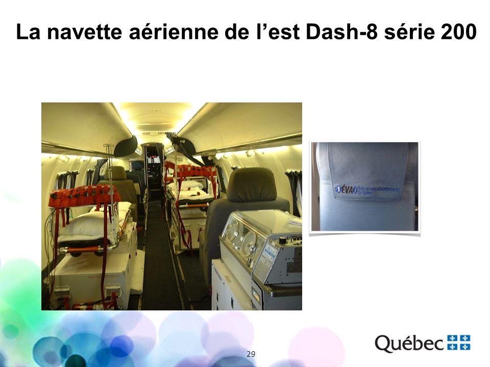 29 La navette aérienne de lest Dash-8 série 200