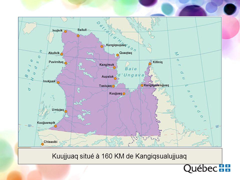 Kuujjuaq situé à 160 KM de Kangiqsualujjuaq