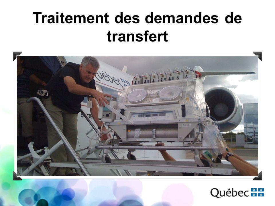 Traitement des demandes de transfert