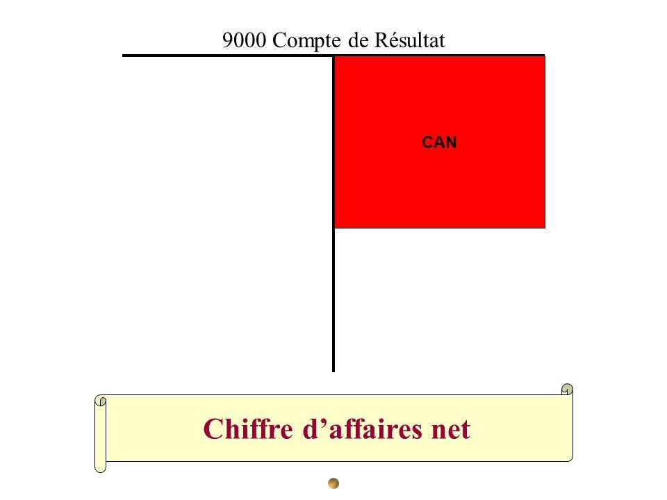 Chiffre daffaires net CAN 9000 Compte de Résultat