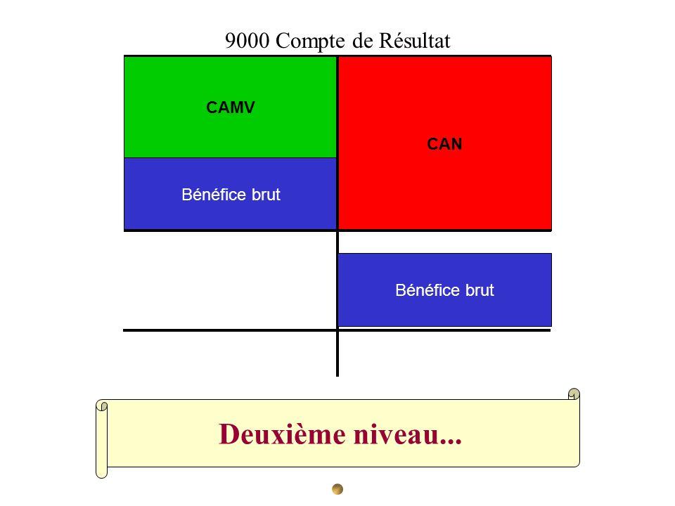 Deuxième niveau... CAN CAMV Bénéfice brut 9000 Compte de Résultat Bénéfice brut