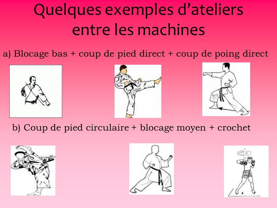 17 Les grands principes du circuit Des mouvements darts martiaux sans coups portés sur le plateau musculation Un travail de coordination visant à lamé