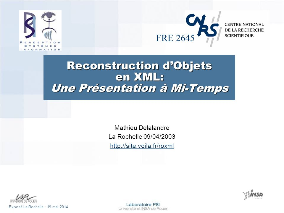 Exposé La Rochelle : lundi 19 mai 2014Diapo 12 Description : System using a statistical and structural approach for technical symbol recognition with XML modelling of recognition results [Del-02a] [Del-02b] [Del-03a] [Del-03b]r Globale : Application Utility map extract XML modelling of recognition results