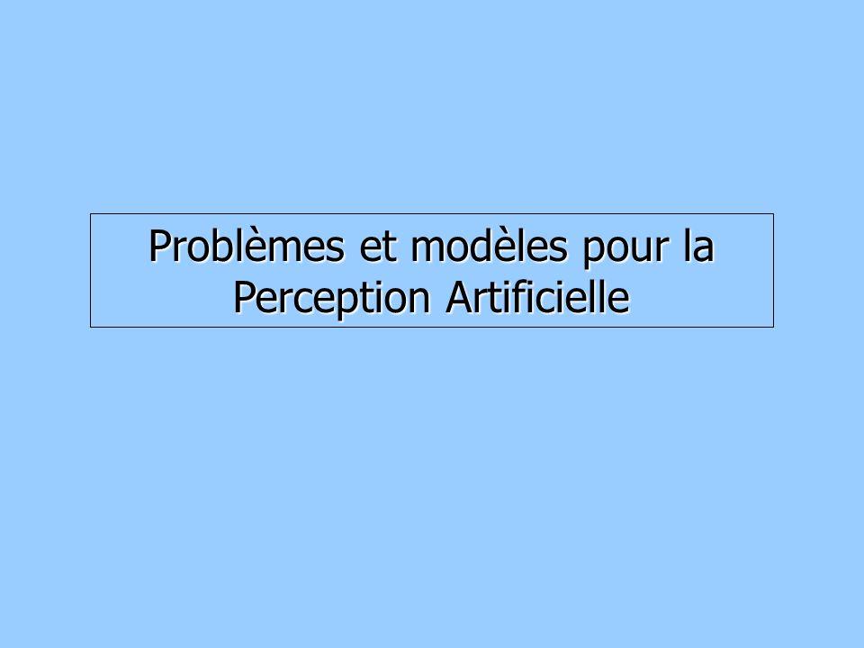 Problèmes et modèles pour la Perception Artificielle
