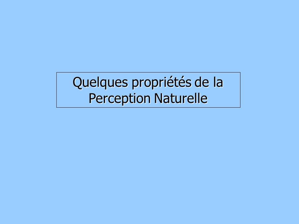 Quelques propriétés de la Perception Naturelle
