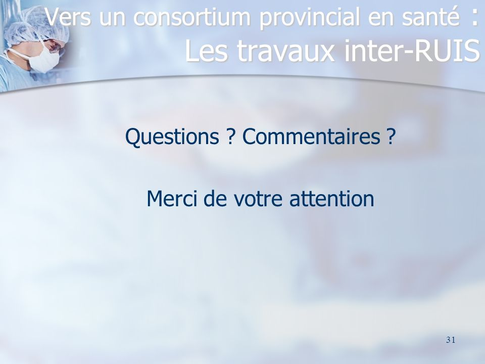31 Questions .Commentaires .