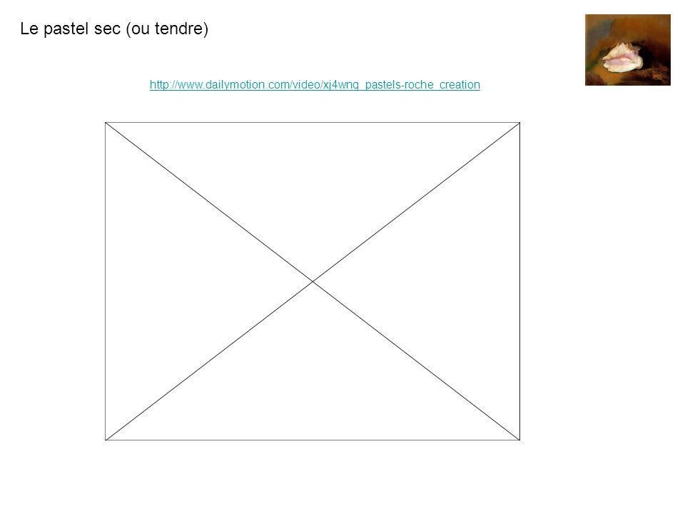 Le pastel sec (ou tendre) http://www.dailymotion.com/video/xj4wnq_pastels-roche_creation