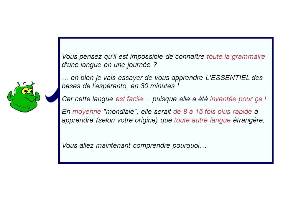L interrogation Pour transformer une affirmation en question, on ajoute simplement ĈU en début de phrase Exemple Ĉu vi parolas esperante* .