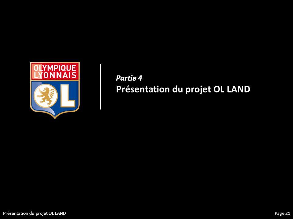 Présentation du projet OL LAND Partie 4 Présentation du projet OL LAND Page 21