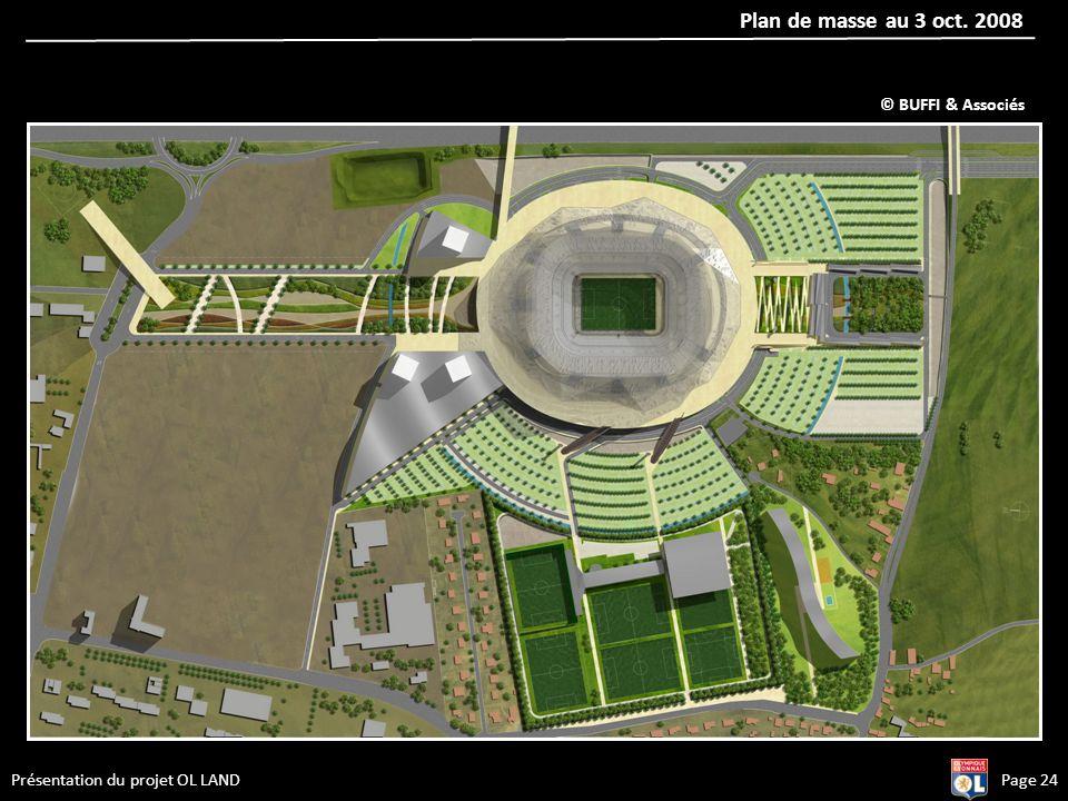 Plan de masse au 3 oct. 2008 Page 24Présentation du projet OL LAND © BUFFI & Associés