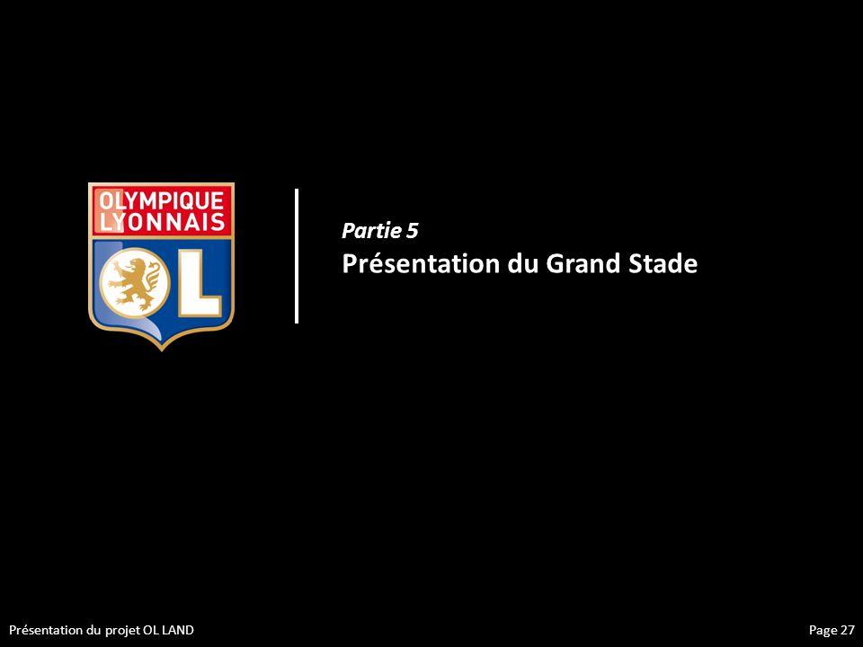 Présentation du projet OL LAND Partie 5 Présentation du Grand Stade Page 27