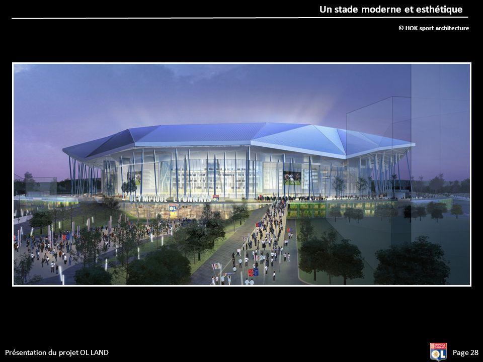 Présentation du projet OL LANDPage 28 Un stade moderne et esthétique © HOK sport architecture