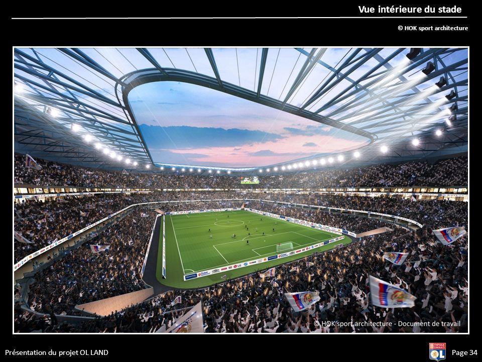Présentation du projet OL LANDPage 34 Vue intérieure du stade © HOK sport architecture