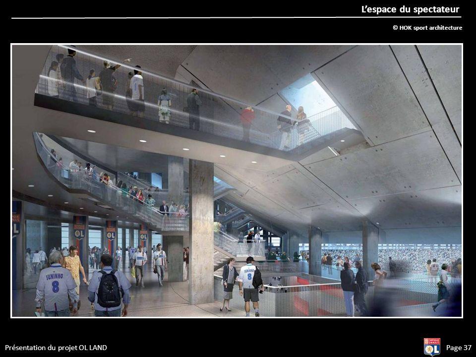 Présentation du projet OL LANDPage 37 Lespace du spectateur © HOK sport architecture