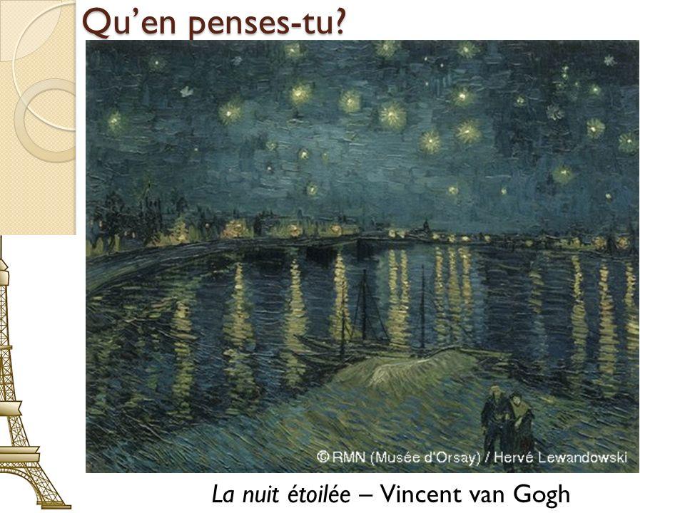 Quen penses-tu? La nuit étoilée – Vincent van Gogh