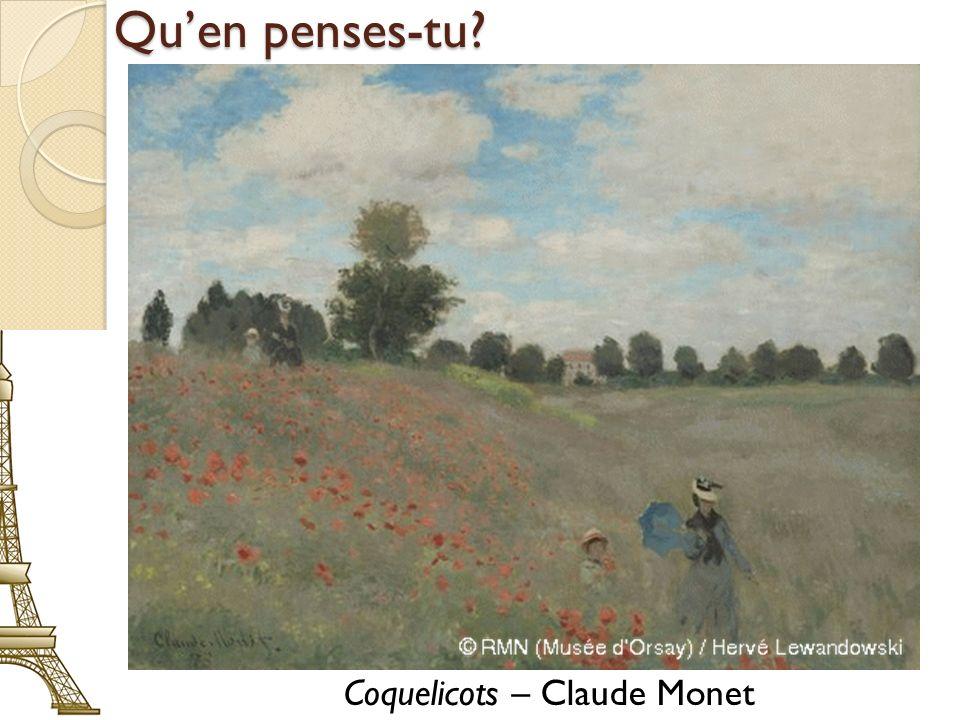 Quen penses-tu? Coquelicots – Claude Monet