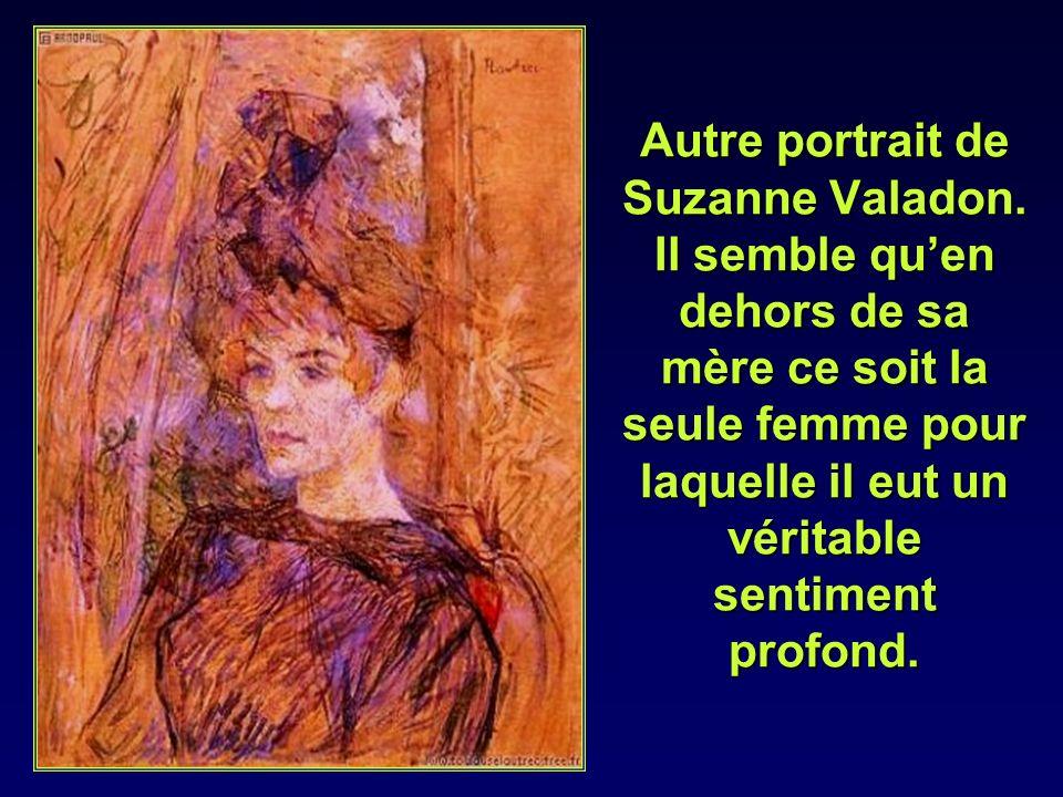 Comme elle sait observer et quelle possède quelques facilités à dessiner, Toulouse Lautrec lui donne des cours et linitie à la peinture.