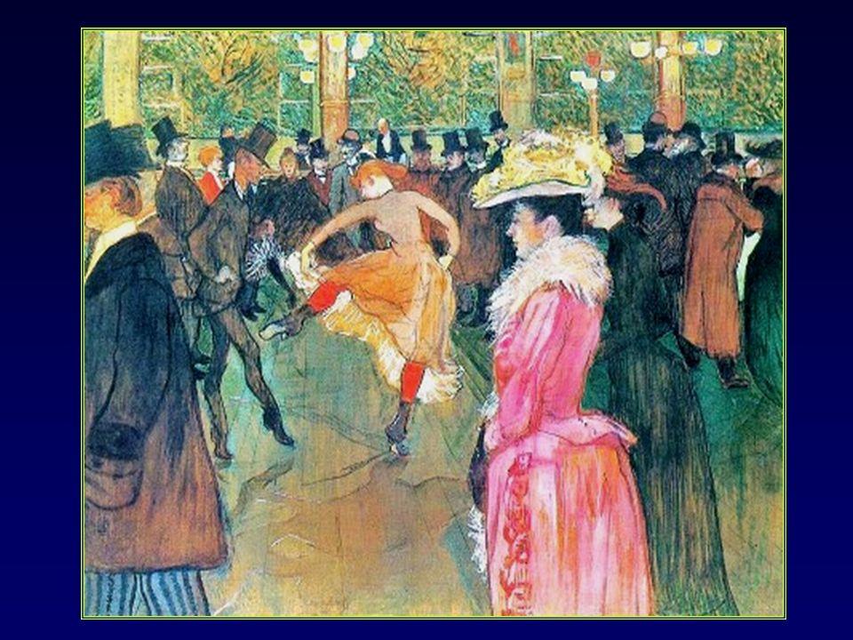 En 1890 il fait la connaissance de Jane Avril la reine du French- Cancan, qui deviendra son égérie et peint le dressage des nouvelles par Valentin le désossé au Moulin-Rouge.