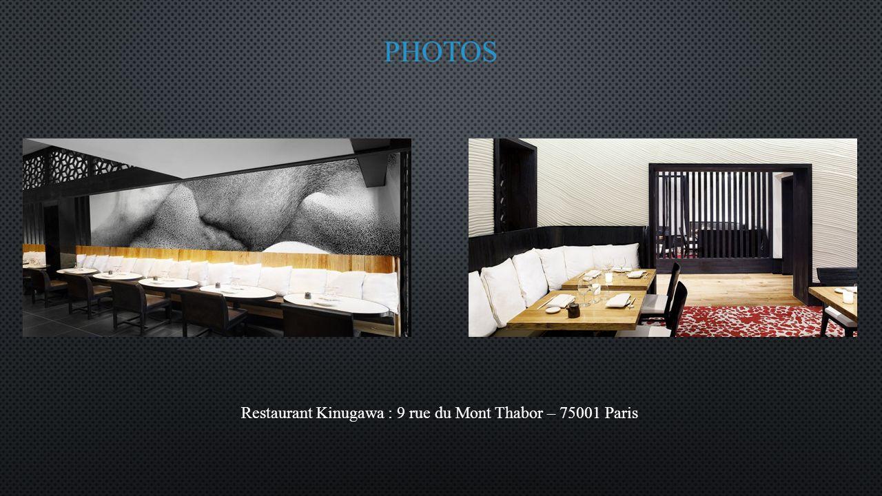 Restaurant Kinugawa : 9 rue du Mont Thabor – 75001 Paris
