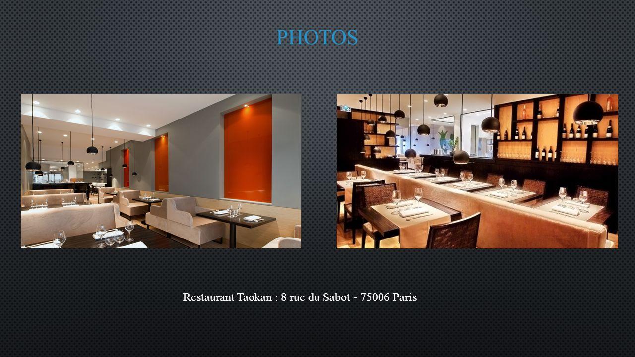 Restaurant Taokan : 8 rue du Sabot - 75006 Paris