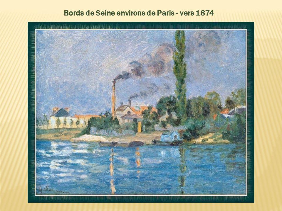 En 1874, il habita dans le même immeuble que Cézanne avec lequel il travailla en étroite collaboration, puis en 1875, il loua lancien atelier de Daubi