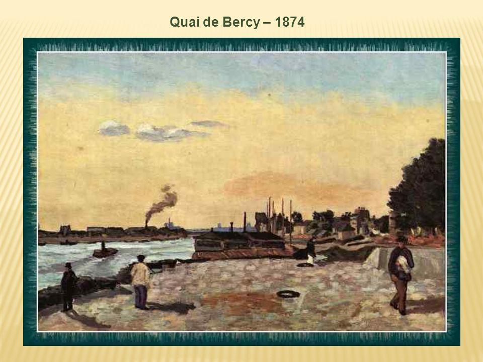 Bords de Seine environs de Paris - vers 1874