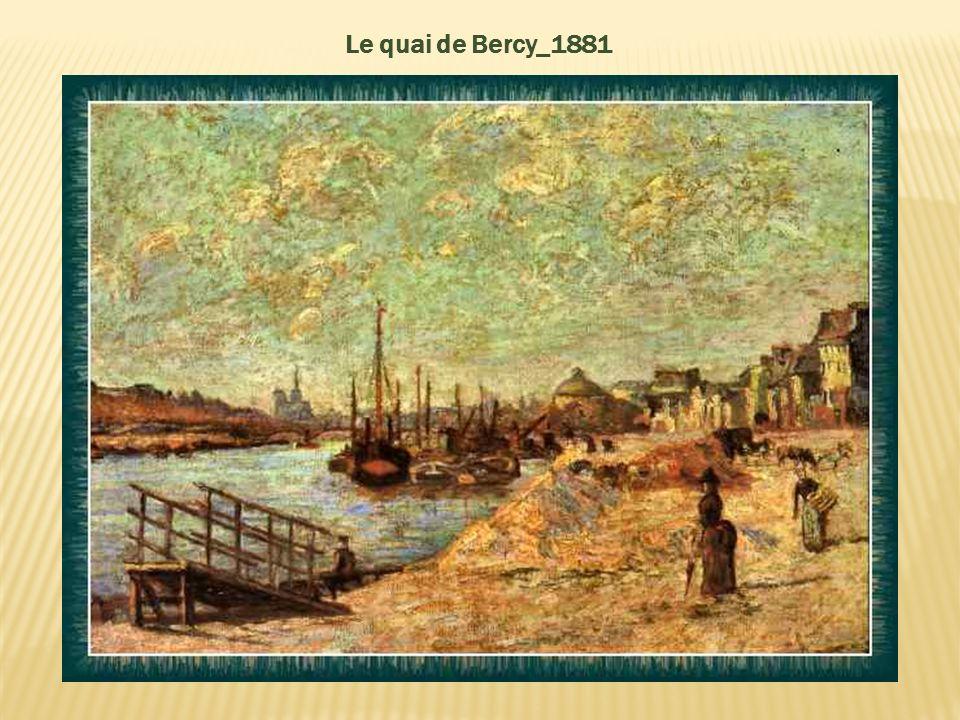 Les quais de la Seine à Paris – Vers 1880