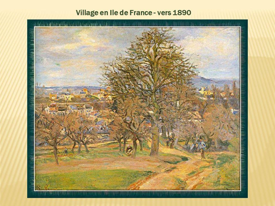 Paysage de l'Ile de France - vers 1888