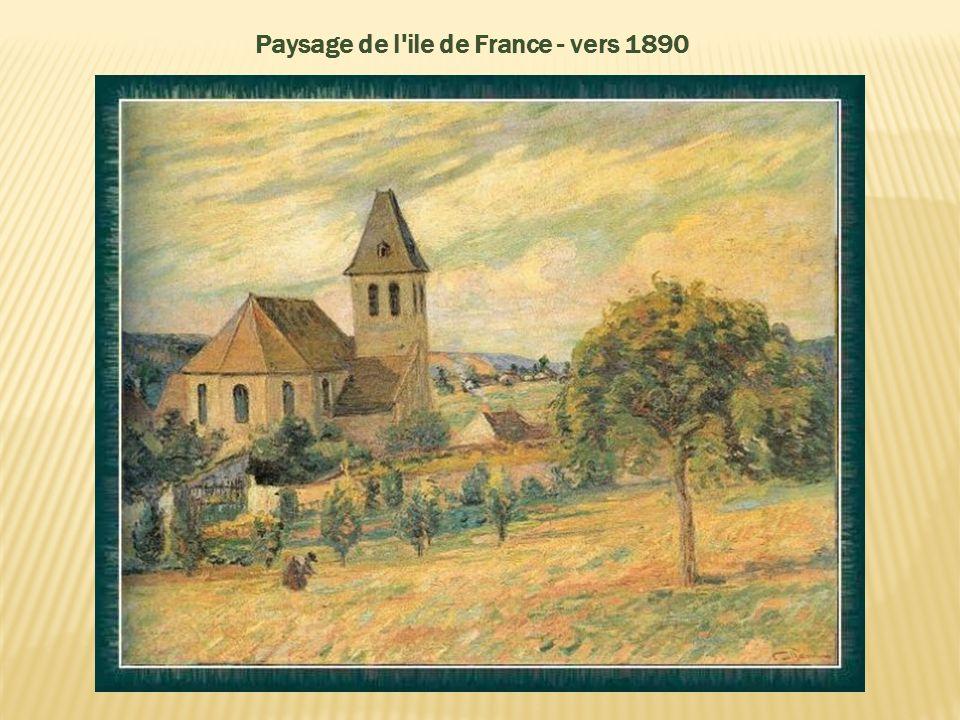 Dans les années 1890, sa peinture devint plus subjective et il commença à utiliser des couleurs très expressives, anticipant les fauves. En 1892, il g