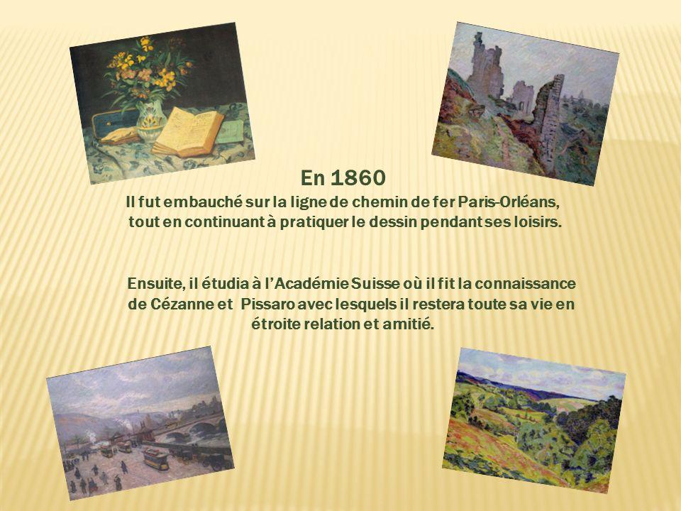 il commença à travailler à Paris dans le magasin de son oncle en 1857 à lâge de 15 ans, tout en étudiant le dessin le soir. Armand Guillaumin Armand G