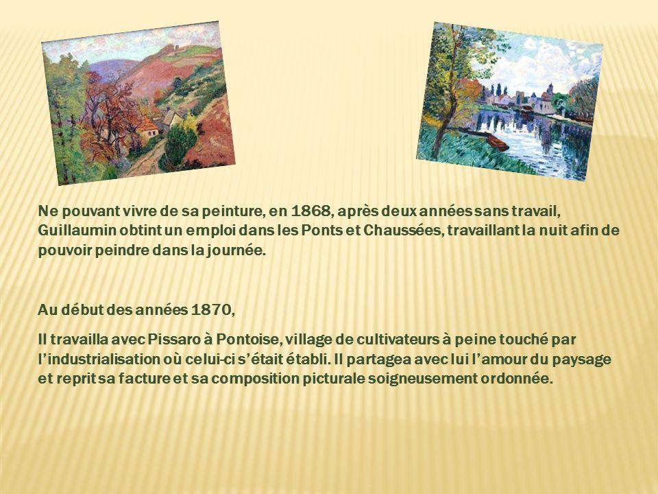 En 1860 Il fut embauché sur la ligne de chemin de fer Paris-Orléans, tout en continuant à pratiquer le dessin pendant ses loisirs. Ensuite, il étudia
