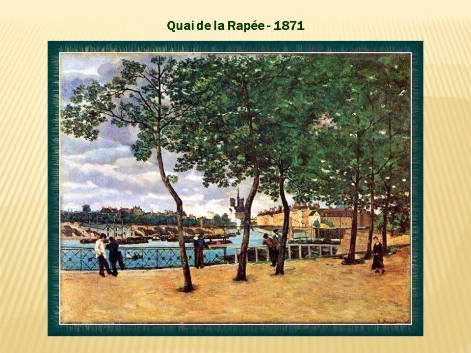 Ne pouvant vivre de sa peinture, en 1868, après deux années sans travail, Guillaumin obtint un emploi dans les Ponts et Chaussées, travaillant la nuit