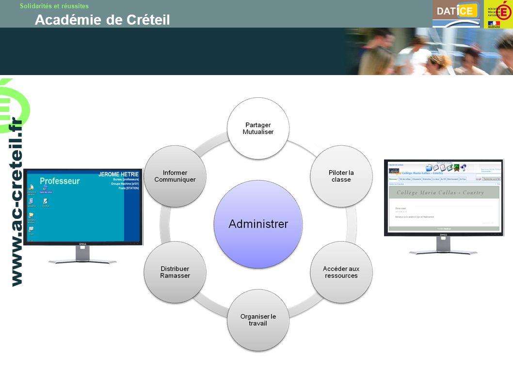 Solidarités et réussites Académie de Créteil www.ac-creteil.fr Chaque utilisateur dispose d un compte et d un mot de passe personnel