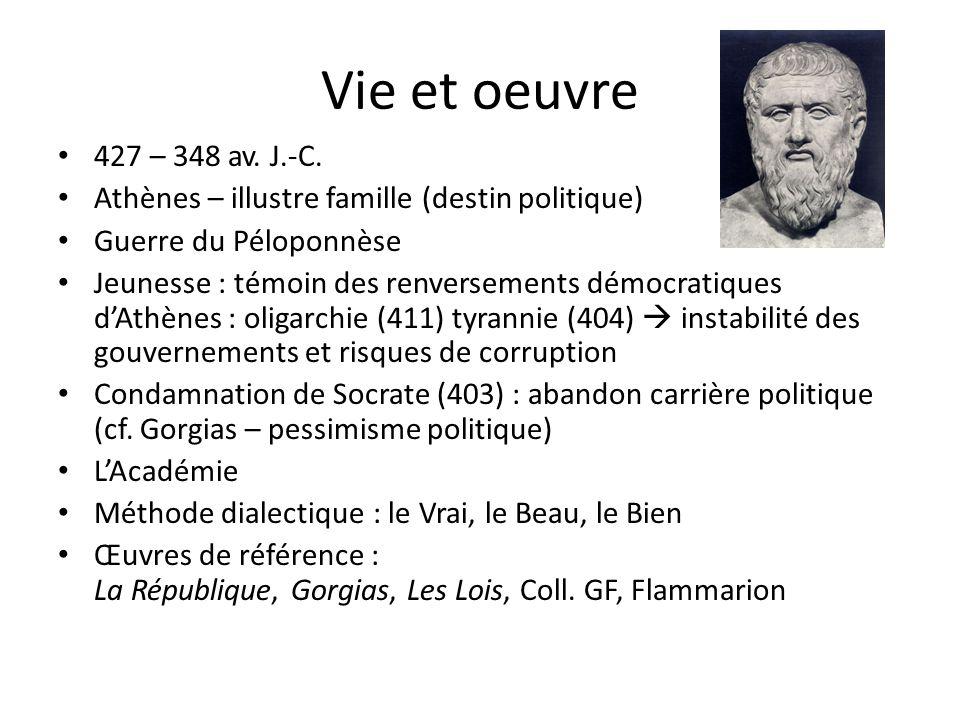 Vie et oeuvre 427 – 348 av.J.-C.