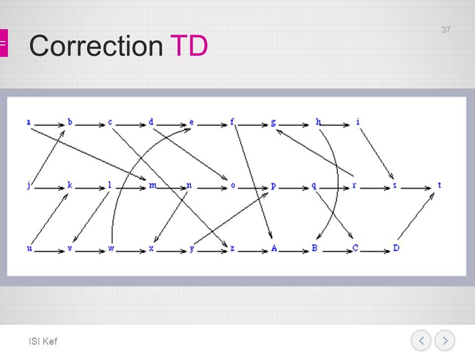 Correction TD ISI Kef 37
