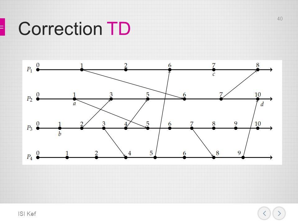 Correction TD ISI Kef 40