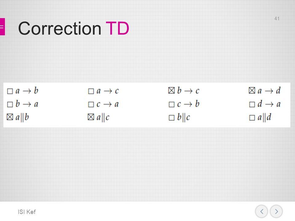 Correction TD ISI Kef 41