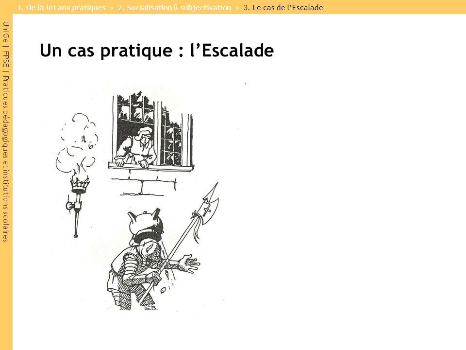 UniGe | FPSE | Pratiques pédagogiques et institutions scolaires Un cas pratique : lEscalade 1.