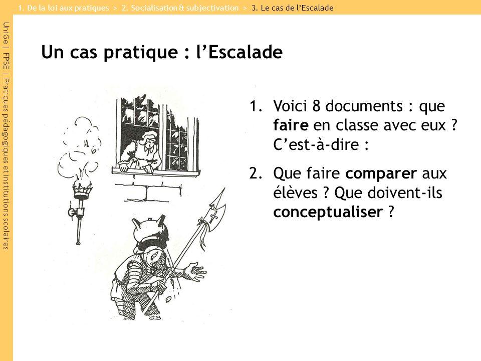 UniGe | FPSE | Pratiques pédagogiques et institutions scolaires Un cas pratique : lEscalade 1.Voici 8 documents : que faire en classe avec eux .