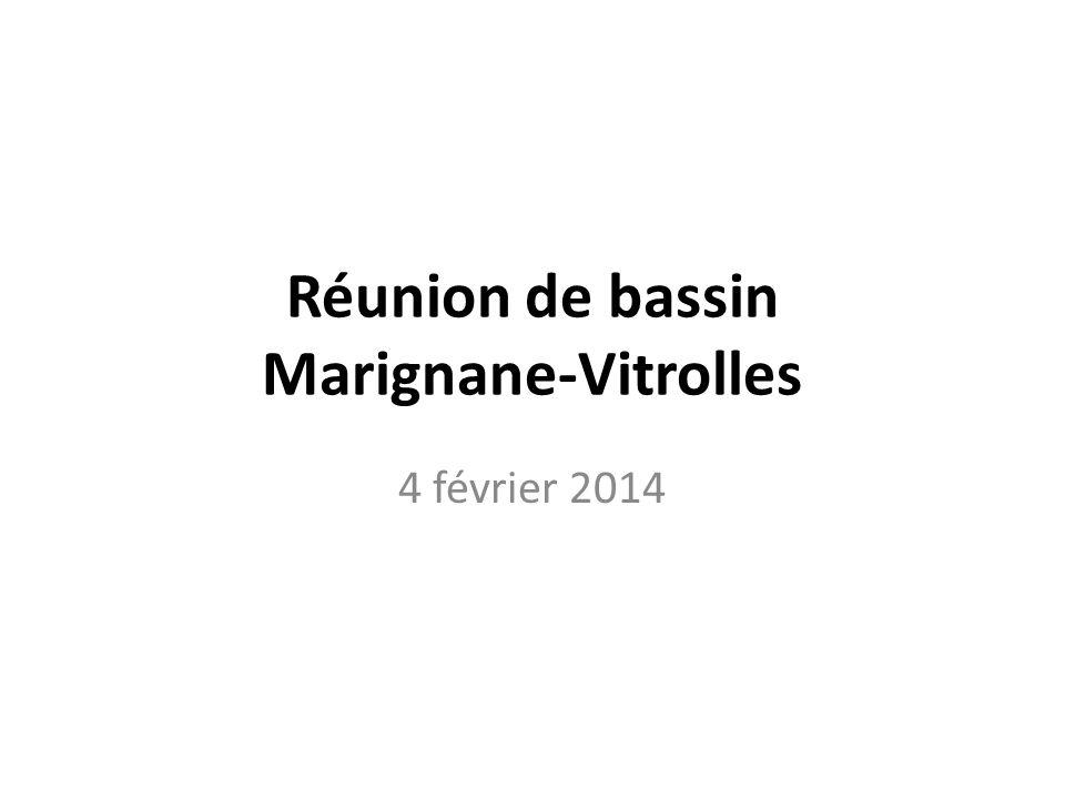 Réunion de bassin Marignane-Vitrolles 4 février 2014