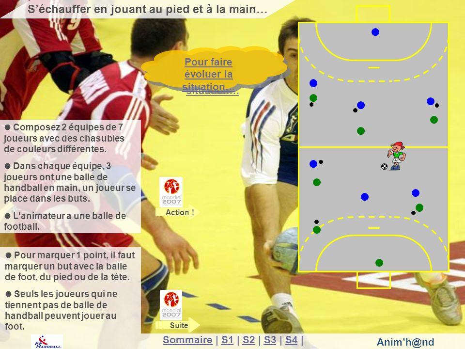 Animh@nd Pour marquer 1 point, il faut marquer un but avec la balle de foot, du pied ou de la tête.