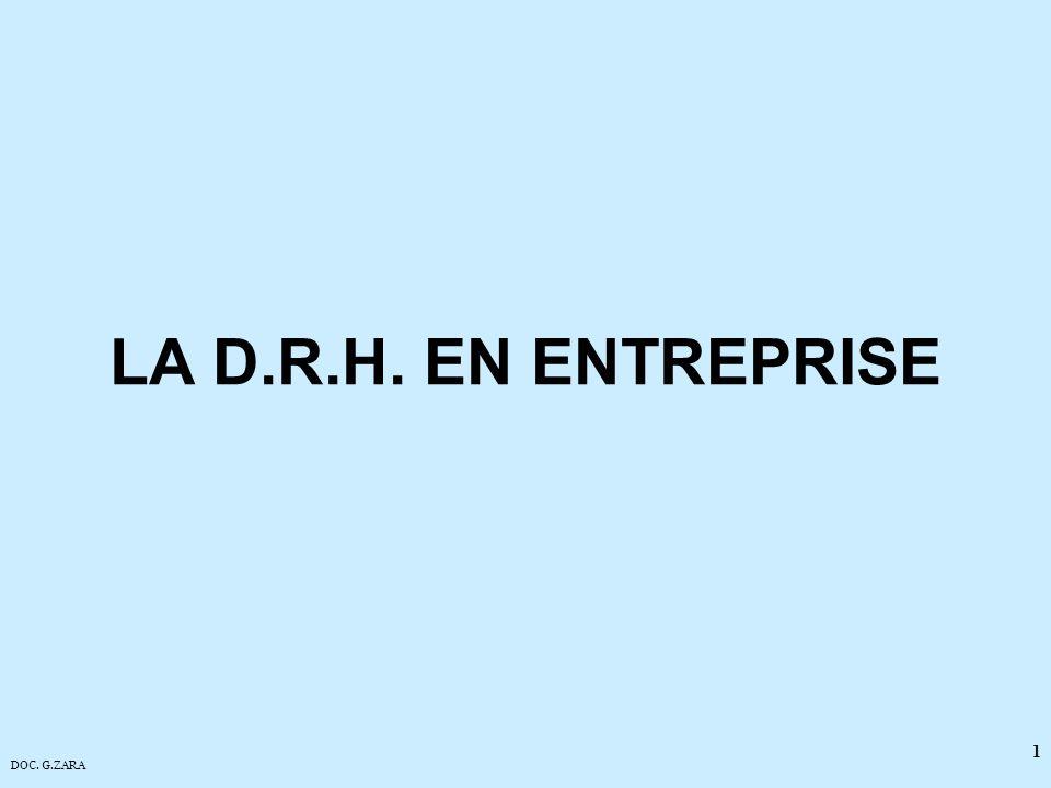 DOC. G.ZARA 1 LA D.R.H. EN ENTREPRISE