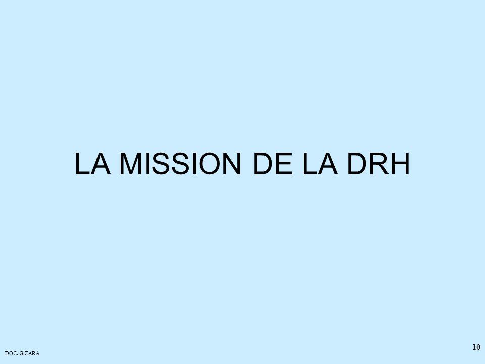 DOC. G.ZARA 10 LA MISSION DE LA DRH
