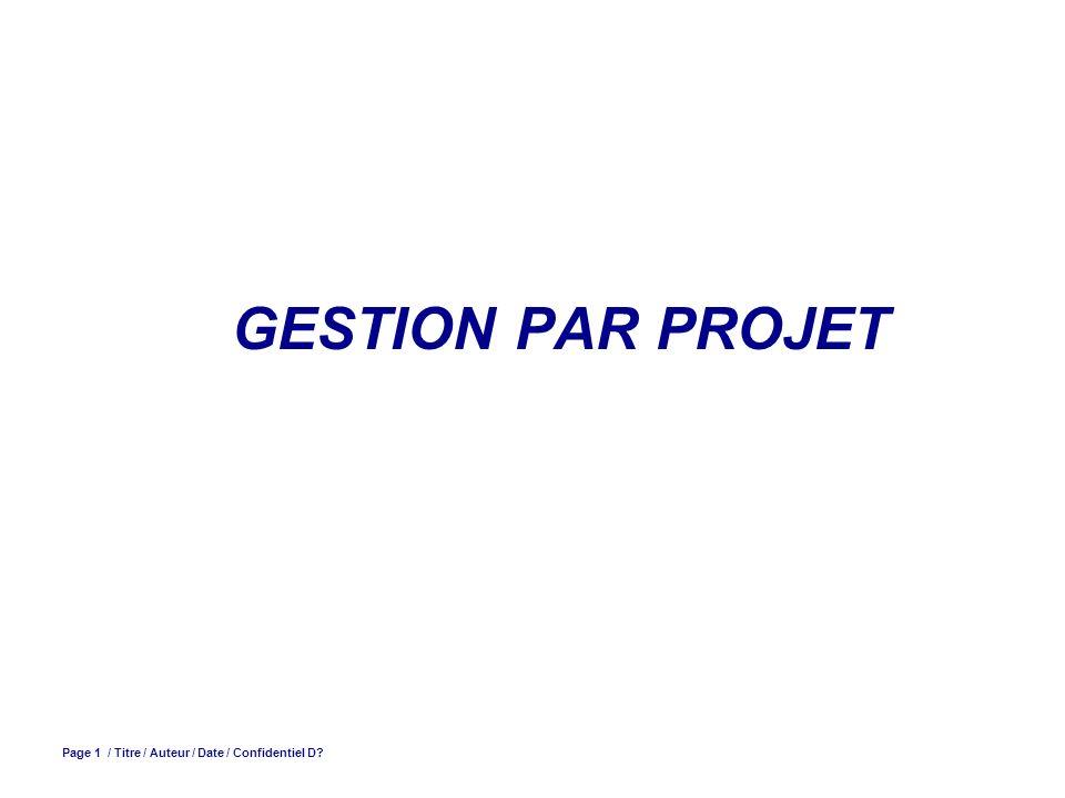 Page 12 / Gestion de projet / V.