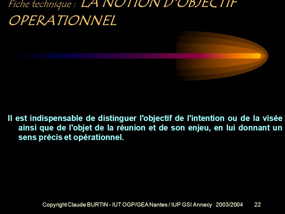 Copyright Claude BURTIN - IUT OGP/GEA Nantes / IUP GSI Annecy 2003/200421 Fiche technique : Trois phénomènes fondamentaux sont particulièrement à soul
