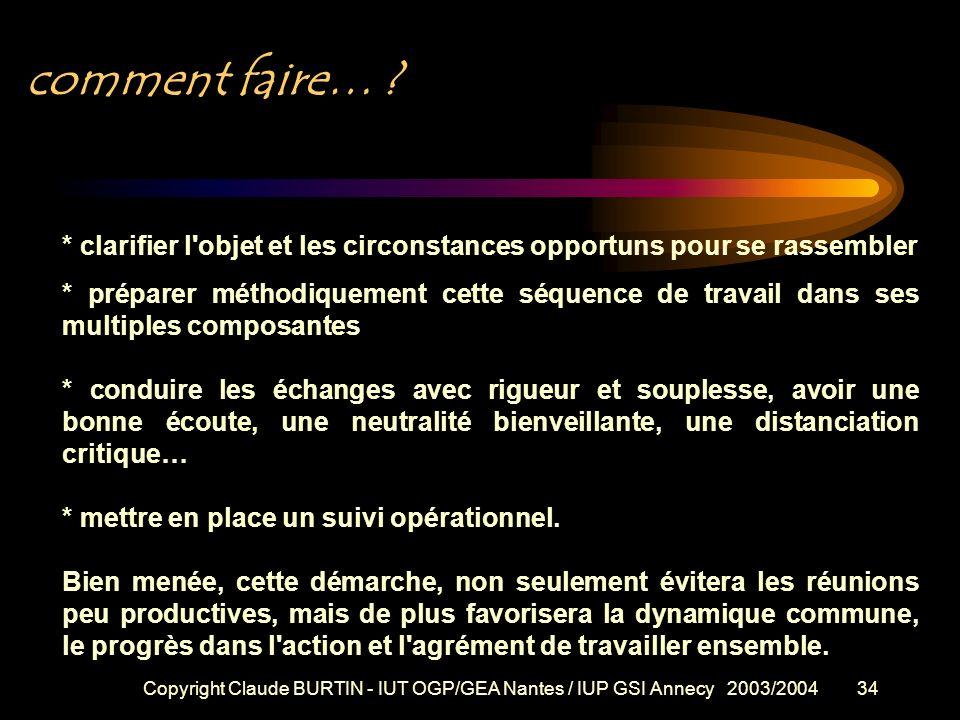Copyright Claude BURTIN - IUT OGP/GEA Nantes / IUP GSI Annecy 2003/200433 Fiche technique (2/2) : FRONT CONTRE FRONT METHODE (suite) La préparation du