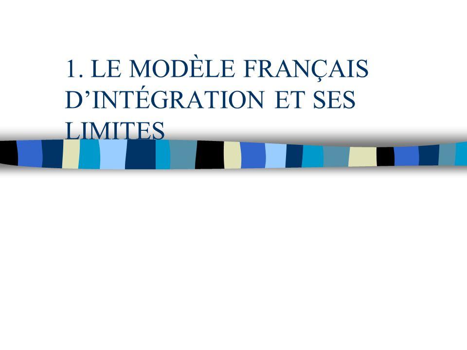 1. LE MODÈLE FRANÇAIS DINTÉGRATION ET SES LIMITES